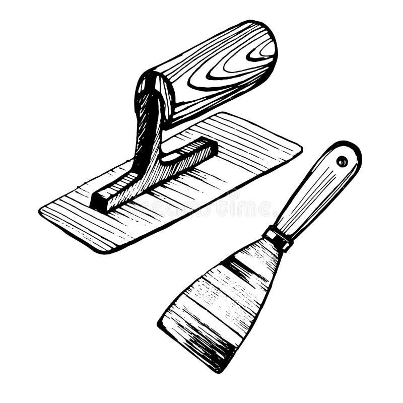 Troffel voor Venetiaans pleister vector illustratie