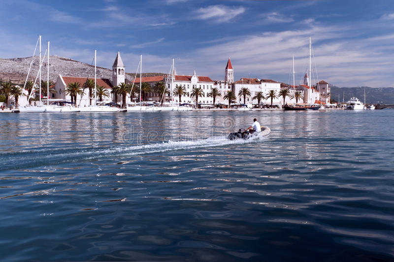 Trogir城镇  库存图片