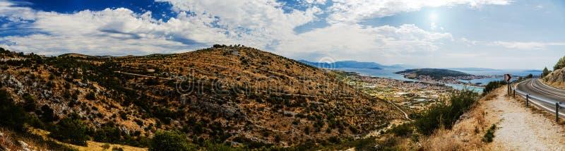 Trogir в графстве Разделени-Далмации, Хорватии стоковое изображение rf