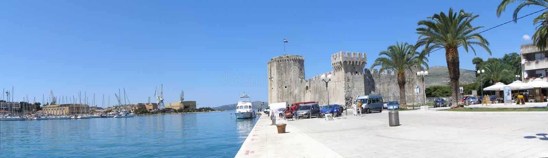 trogir променад Хорватии стоковые фотографии rf