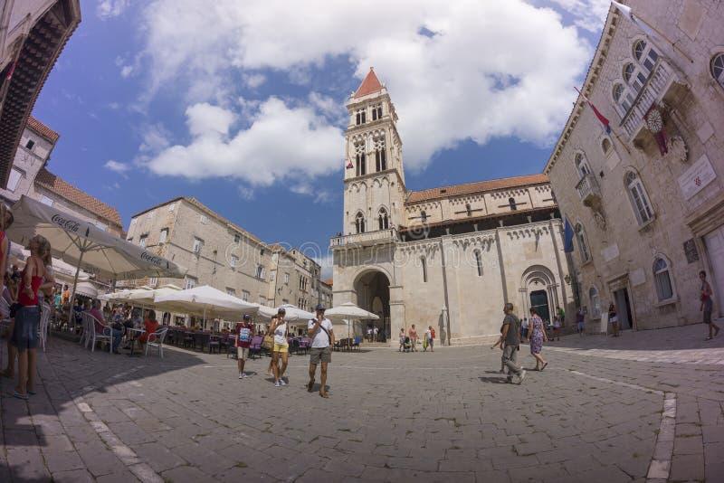 Trogir in Dalmatien, Kroatien stockfotos