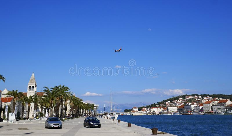 Trogir is a historic town and harbour on the Adriatic coast in Split-Dalmatia, Croatia, Europe royalty free stock photography