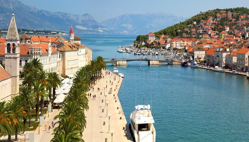 Trogir Kroatien arkivfoto