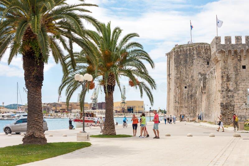 Trogir, Kroatien stockbild