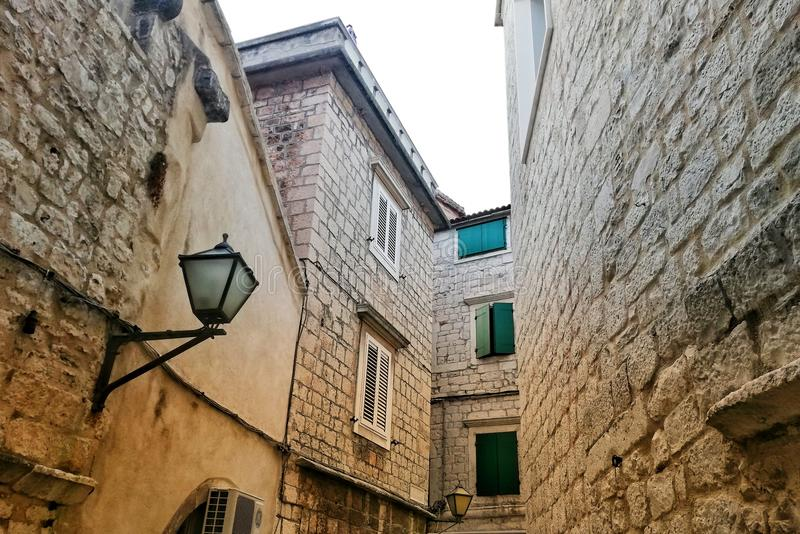 Trogir Old street stock photography