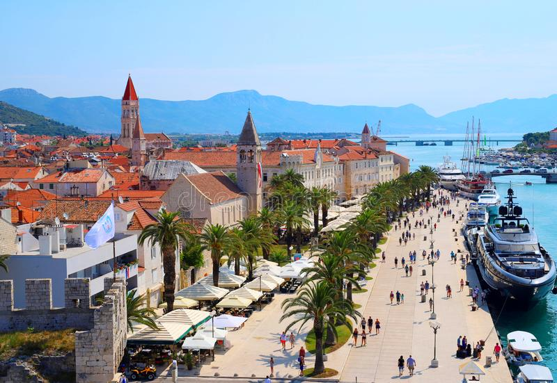 Trogir old town in Croatia,summer stock images