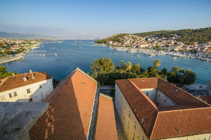 Trogir panoramautsikt royaltyfri foto