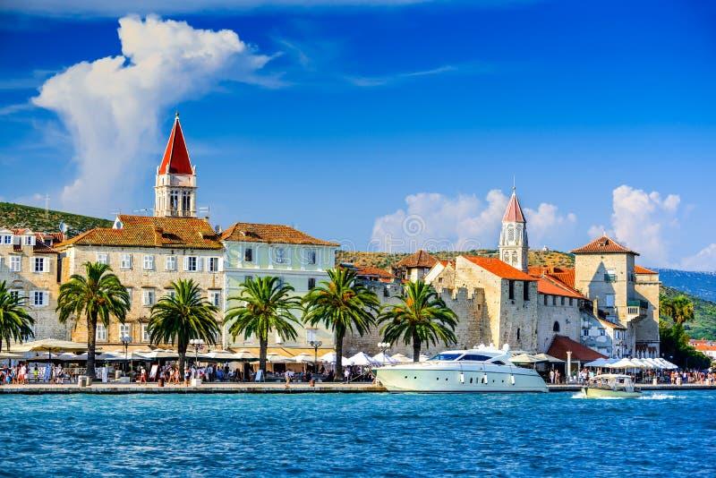 Trogir, Spalte, Dalmatien-Region von Kroatien stockfotos
