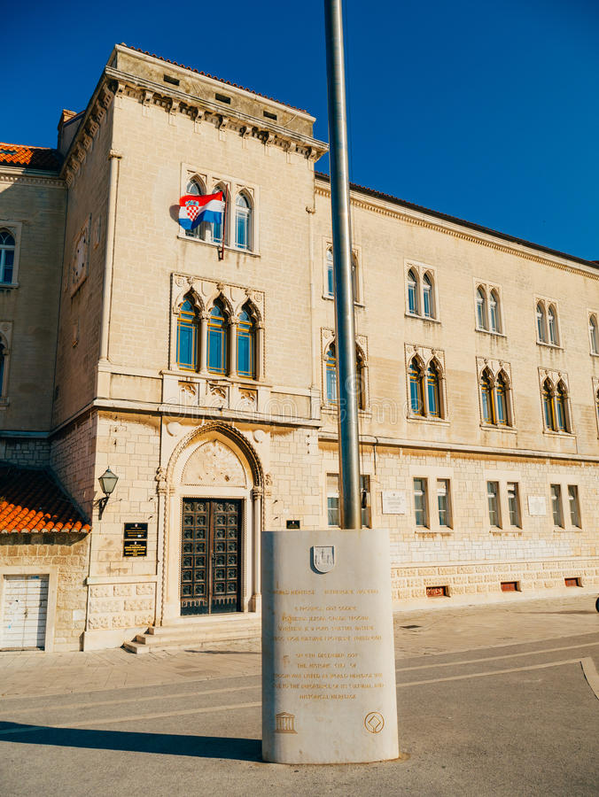Trogir stary miasteczko Blisko rozłamu obraz royalty free