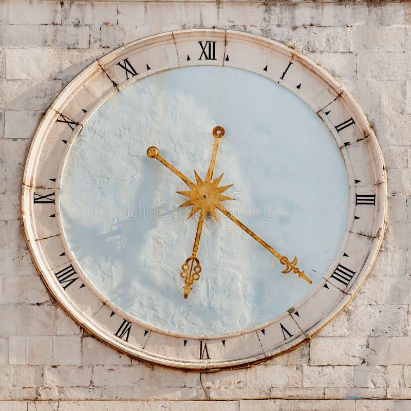 Trogir tower clock royalty free stock photo