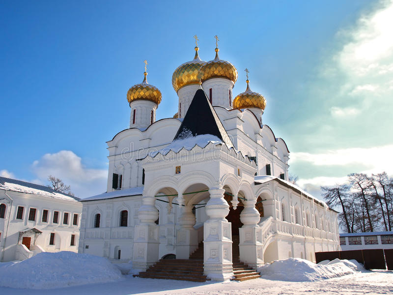 troicskiy大教堂正统俄国的sviato 库存图片