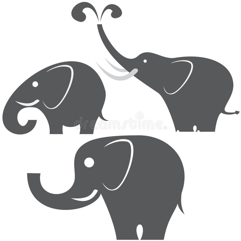 Trois éléphants illustration stock