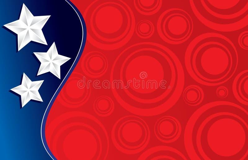 Trois étoiles et cercles   illustration libre de droits