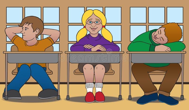 Trois étudiants illustration stock