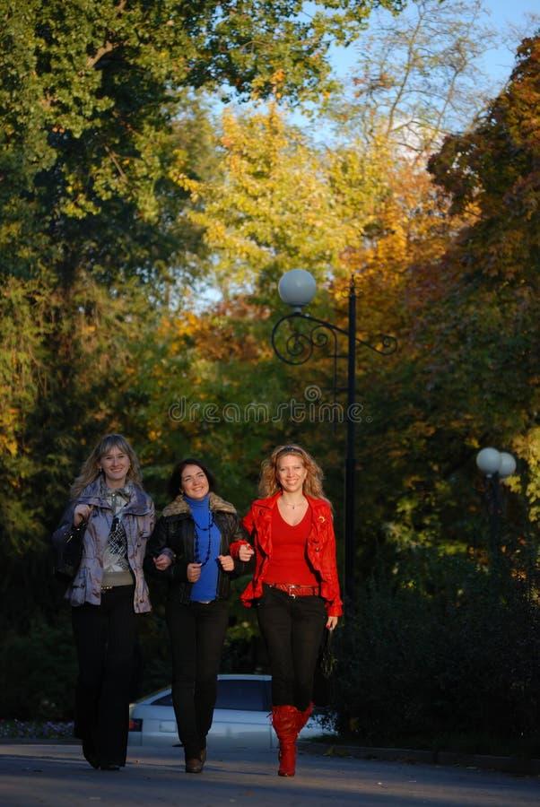 Trois amies photo stock