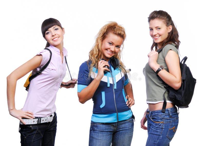 Trois amies ayant l'amusement images libres de droits