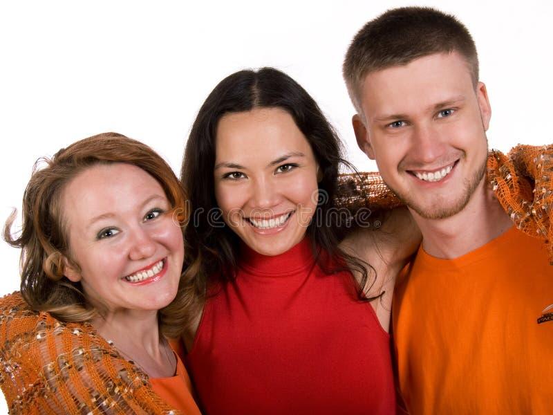 Trois amis photo libre de droits