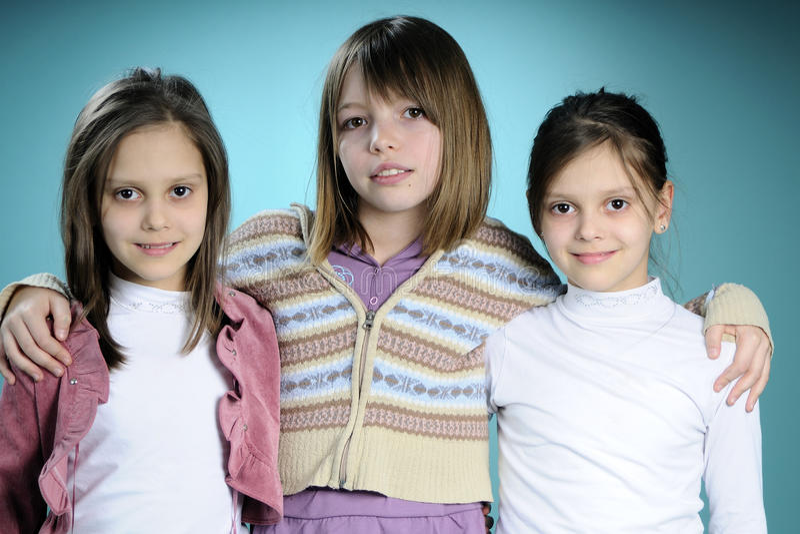 Trois amis blancs photographie stock