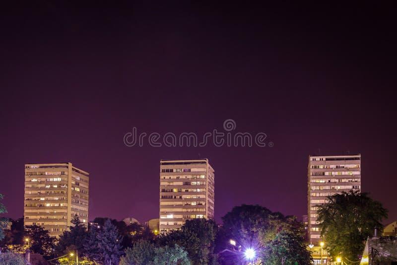 Trois bâtiments à Belgrade, Serbie photo stock