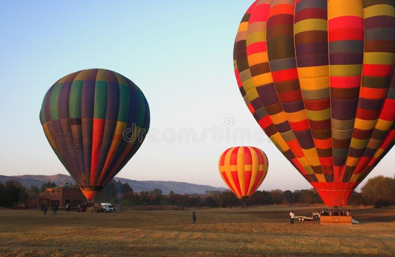 Trois ballons à air chauds photographie stock libre de droits