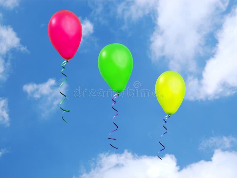 Trois ballons photo libre de droits