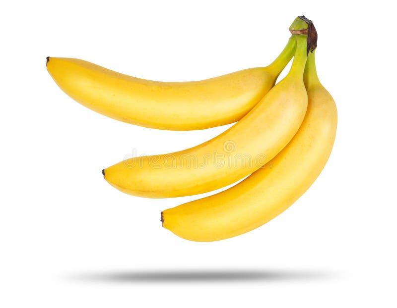 Trois bananes mûres photo libre de droits