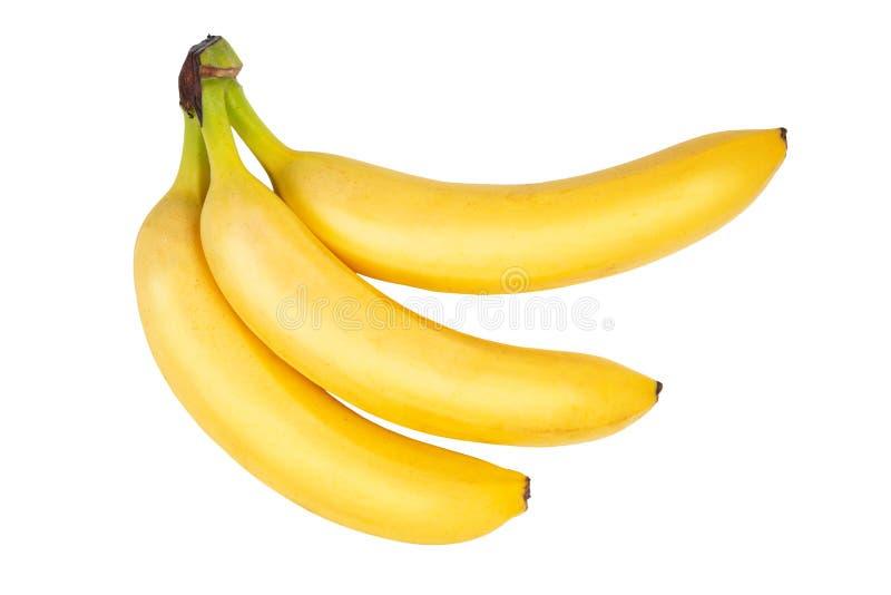 Trois bananes mûres photos libres de droits