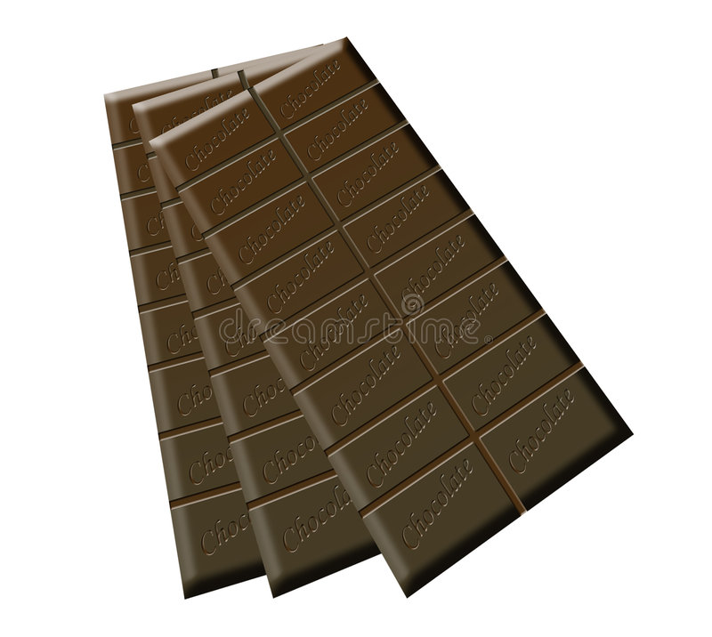 Trois bars de chocolat illustration stock