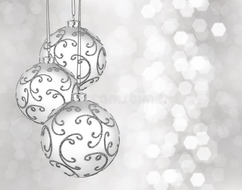 Trois belles boules de Noël image stock