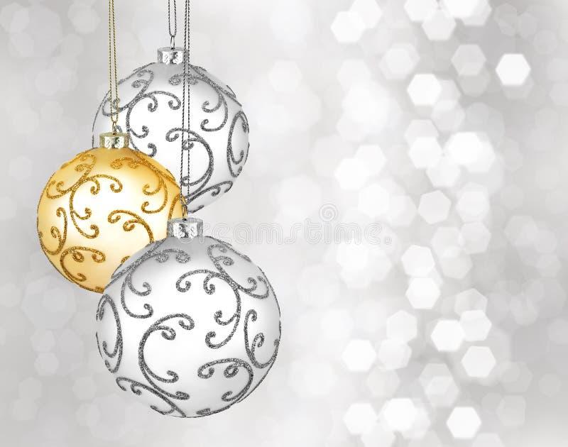 Trois belles boules de Noël image libre de droits