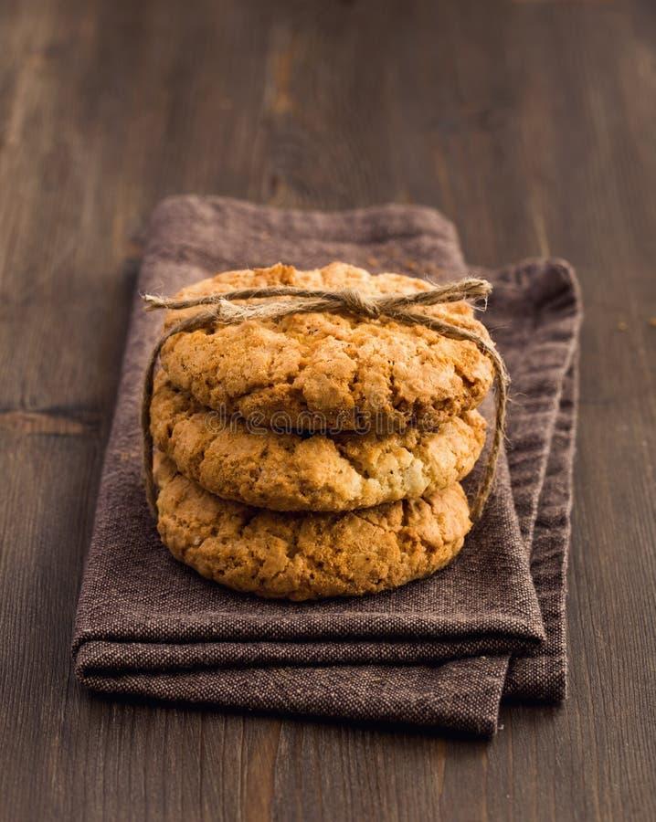 Trois biscuits d'avoine photos libres de droits