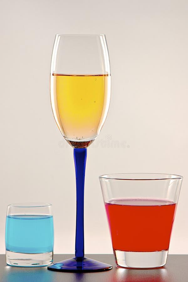 Trois boissons d'énergie image stock