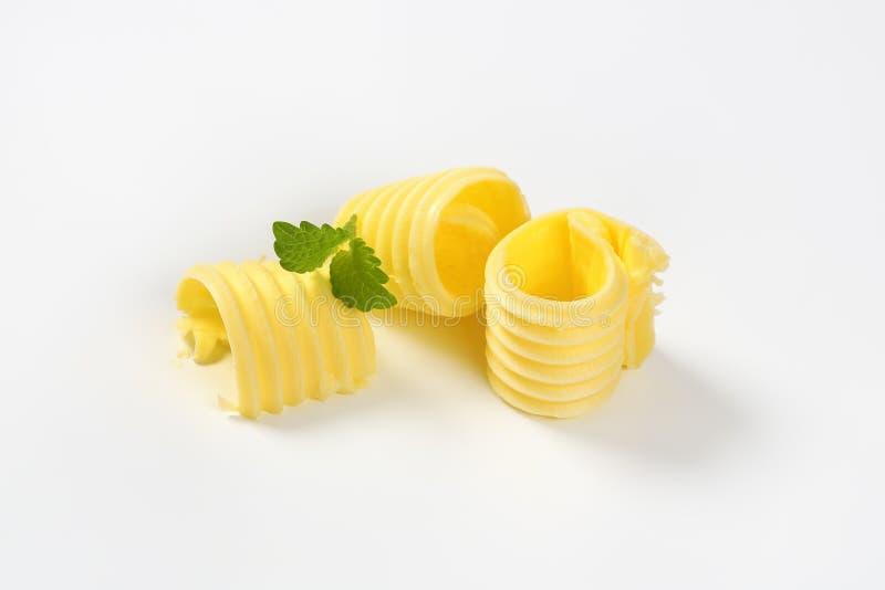 Trois boucles de beurre photo libre de droits