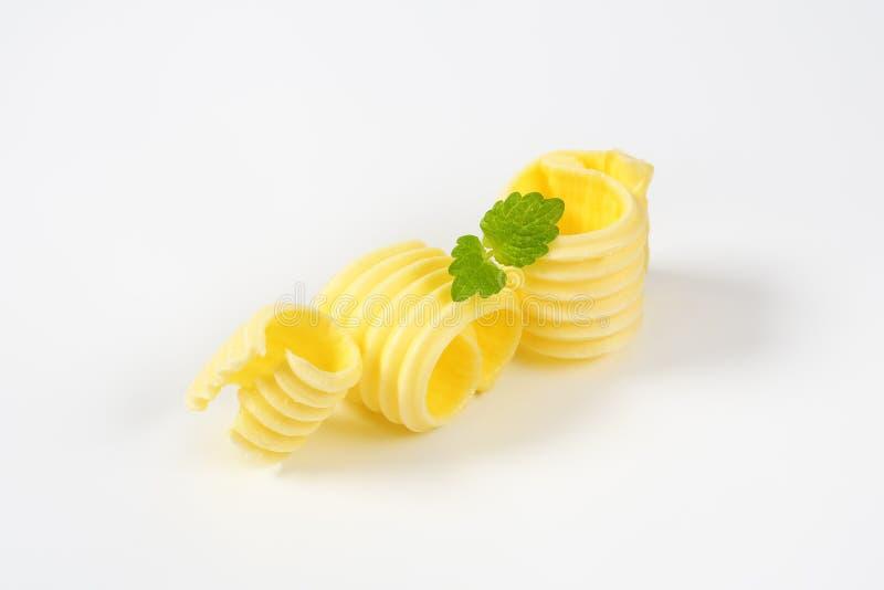 Trois boucles de beurre photographie stock