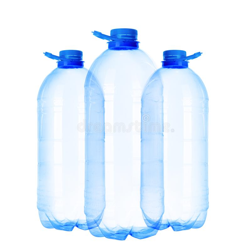 Trois bouteilles de cinq-litre photos stock