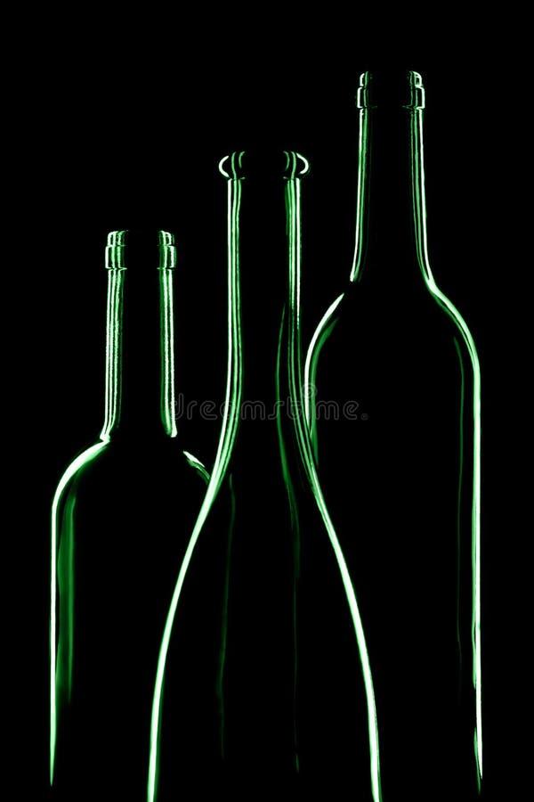 Trois bouteilles vides photos libres de droits