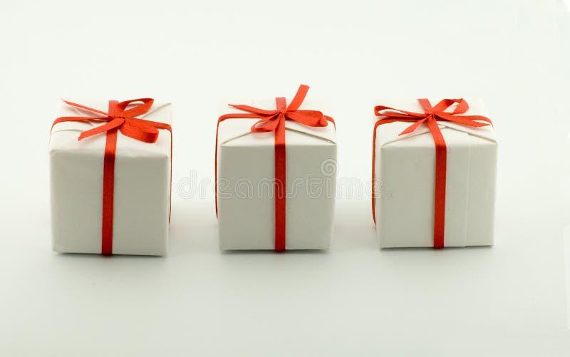 Trois cadres avec des cadeaux image stock