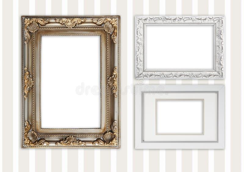 Trois cadres différents de photo images stock