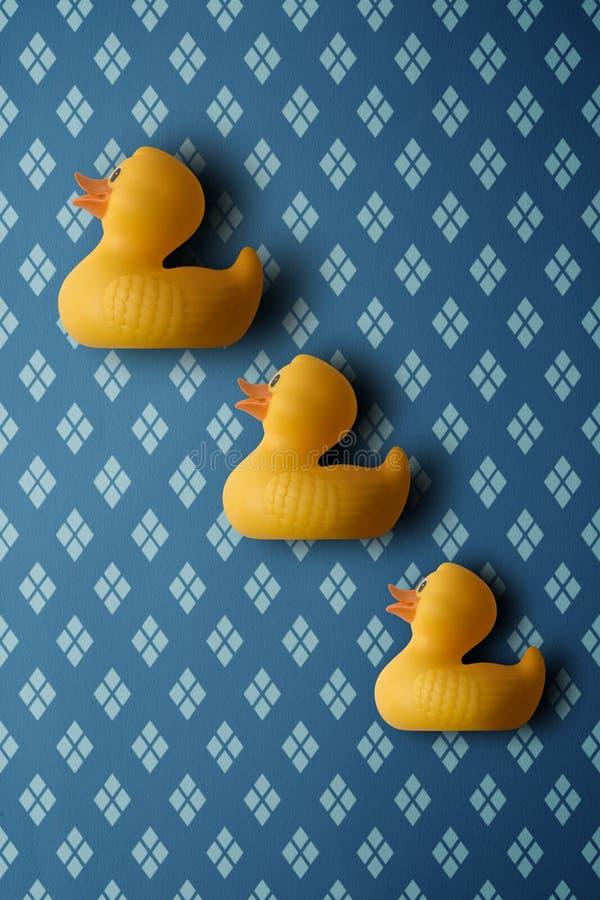 Trois canards illustration de vecteur