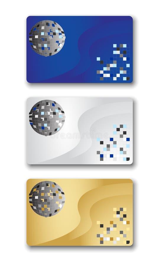 Trois cartes illustration libre de droits