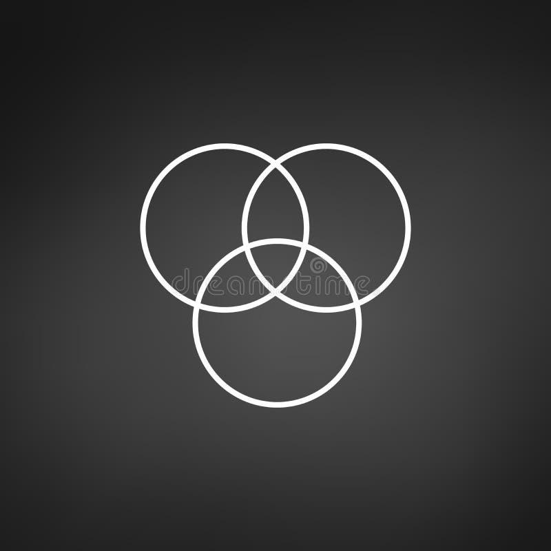Trois cercles de recouvrement infographic Calibre pour le diagramme, le graphique, la pr?sentation et le diagramme Concept d'affa illustration libre de droits