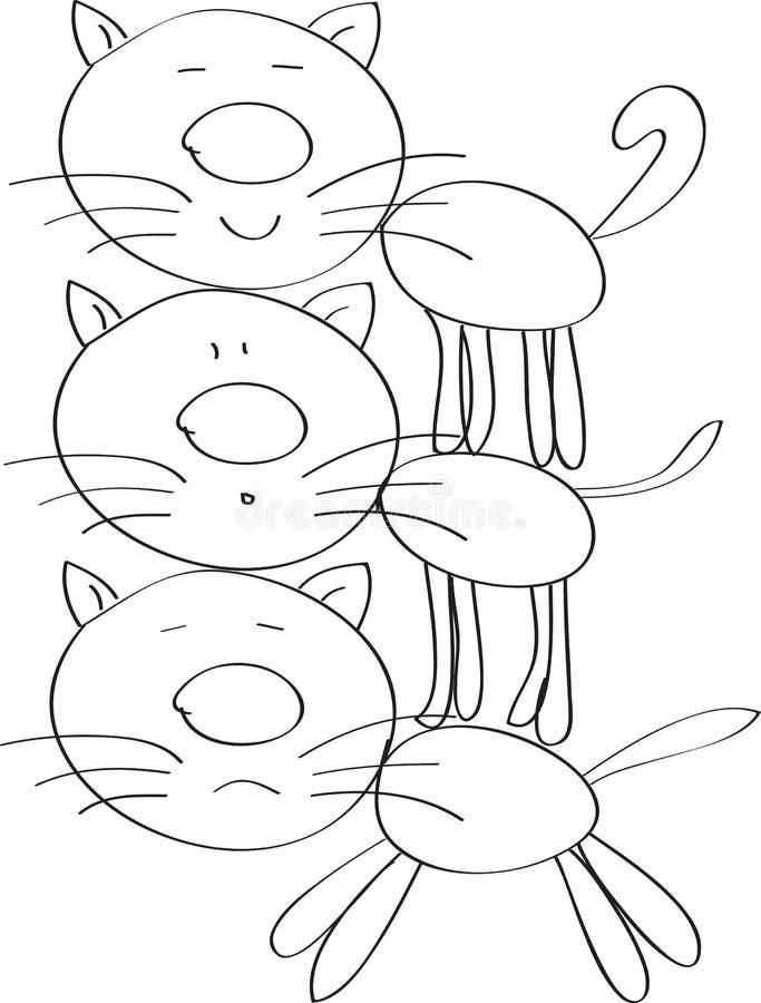 Trois chats photo libre de droits