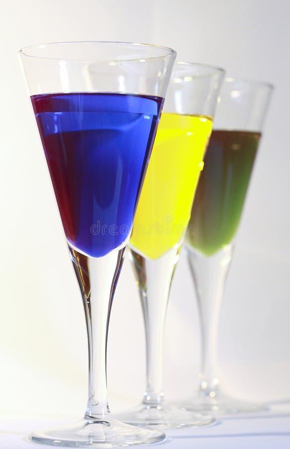 Trois cocktails photographie stock