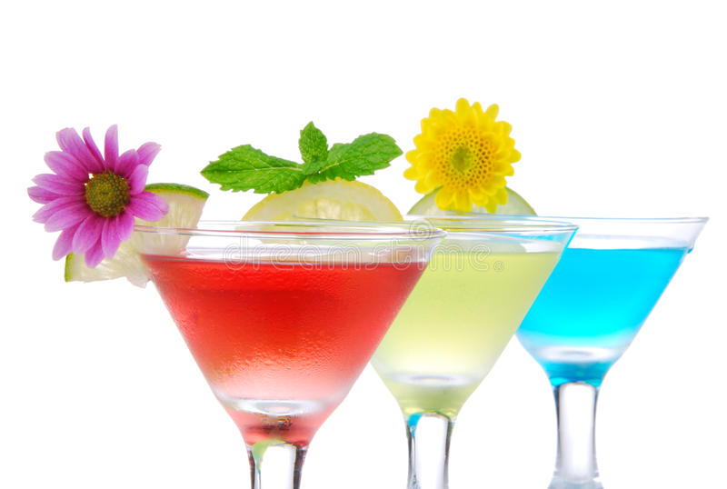 Trois cocktails de martini images stock
