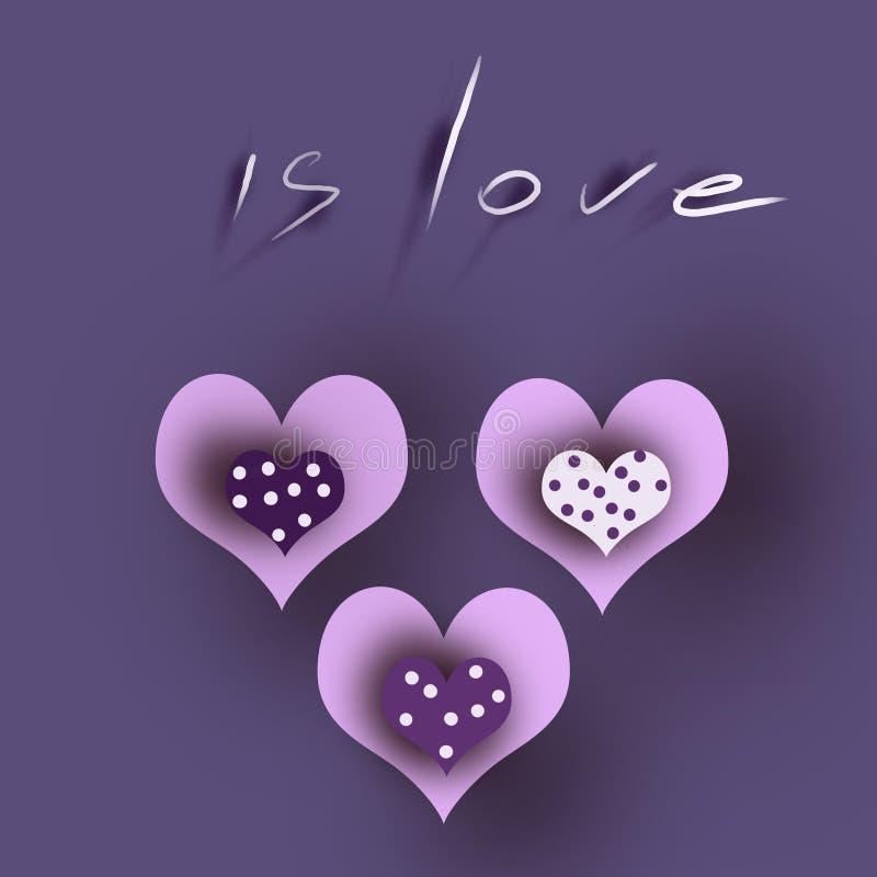 Trois coeurs de coeur illustration libre de droits