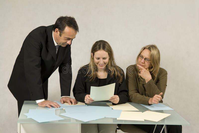 Trois collègues photo libre de droits