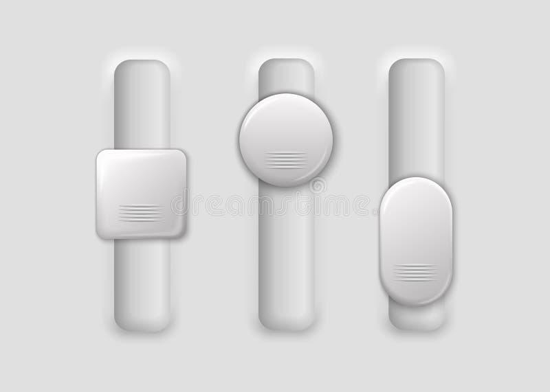 Trois commutateurs verticaux illustration stock