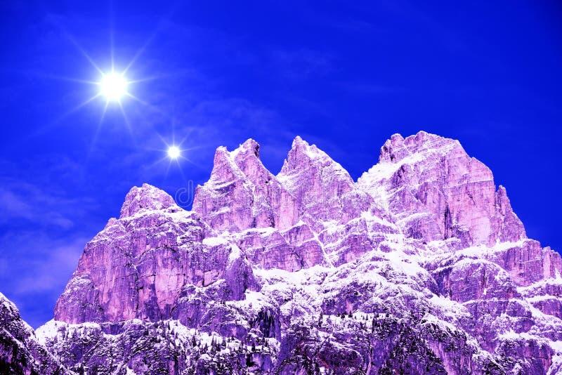 Trois crêtes de Lavaredo, paysage, montagnes de Dolomiti, Italie images stock