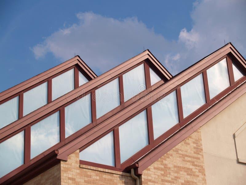 Trois crêtes de toit image stock