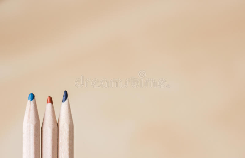Trois crayons photographie stock